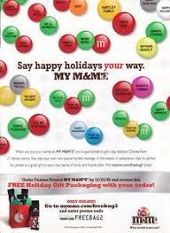 nm 2006 say happy holidays your way my m ms custom printed