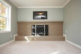 split level lower great room painted sherwin williams silvermist