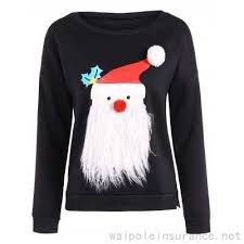 black santa claus side slit sweatshirt 26 55 best price for