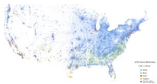 New York Times Census Map by Racial Dot Map From 2010 Census Data Dataisbeautiful