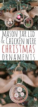 jar lid chicken wire ornaments