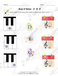fun and learn music portfolio categories worksheets
