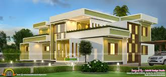 contemporary 3800 square feet home kerala home design and floor