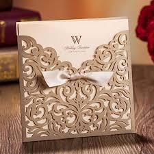 Wedding Invitation Pocket 12 Pcs Free Shipping 2016 Wedding Invitation Card Lasercut Wedding
