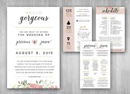 custom wedding programs custom wedding program infographic booklet 5 5x8 5