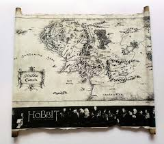 The Hobbit Map Land Of Scrolls Map Of Middle Earth Scroll Lord Of The Rings The