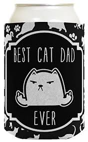 Middle Finger Cat Meme - cat gifts for cat lovers best cat dad ever rude middle finger cat