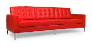 Orange Leather Chair Florence Sofa Red Premium Leather Kardiel