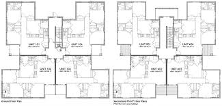 three plex floor plans multi family house plans australia fourplex unit housing floor