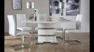High Gloss Dining Table And Chairs Komoro White High Gloss Dining Table By Furniture Choice Youtube