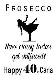 funny personalised prosecco birthday card 18th 21st 30th 40th