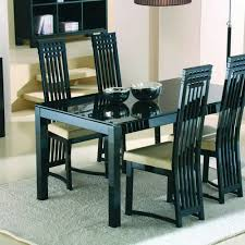 4 chair dining table set stunning glass topped dining table and chairs 55a 307 metal base