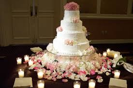 DIY Wedding cake table decorations
