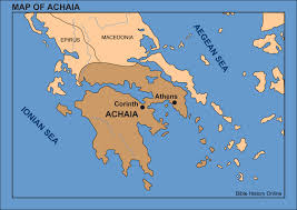 Map Greece by Map Of Achaia Bible History Online