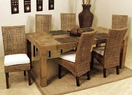 dining room cheap wicker rattan dining chairs set of 6 in high