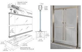 Shower Door Closer by 13hm12bs Crl Blumcraft Brushed Stainless 1301 Entry Door 1 2