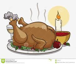 pilgrims thanksgiving feast colorful tasty thanksgiving dinner vector illustration stock
