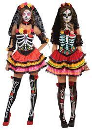 Halloween Costumes Skeleton Day Of The Dead Senorita Ladies Fancy Dress Halloween Skeleton