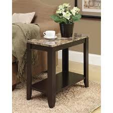 monarch accent table cappuccino marble top walmart com