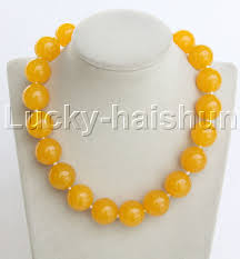 string beads necklace images Aaa natural 18 quot 20mm round yellow jade string beads necklace j12471 jpg