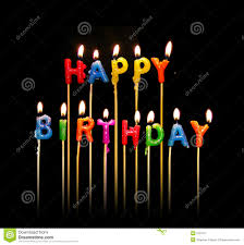 happy birthday candles stock photo image 675770
