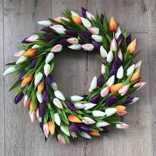 Tulip Wreath Celebrating Spring With The Big Door Wreath Company Boo U0026 Maddie