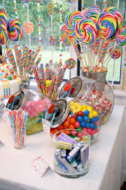 vintage candy theme birthday party table decorations great for a