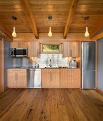 one wall kitchen kitchen contemporary with wood kitchen island
