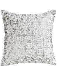 coussin imprime housse de coussin en coton imprimé japonais linge de lit blanc