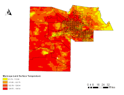 County Map Of Arizona by Phoenix Rising Urban Heat Island In Maricopa County Earthzine
