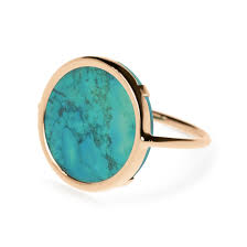 ginette ny jewelry 18 carat gold and turquoise ring ginette ny autumn finds