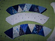 paper piecing double wedding ring adventure on www spindlesdesigns