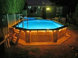 outdoor pool deck lighting above ground swimming pools with decks ideas http www repperry