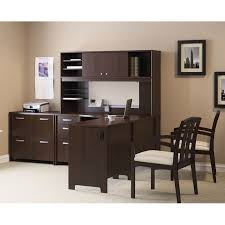 bush envoy l shaped desk and hutch with optional lateral filing