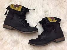 womens black combat boots target mossimo s us size 6 5 ebay