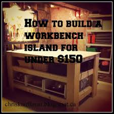 How To Build A Workbench by White Wood Diy Workbench Island For Under 150