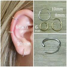 hoop cartilage earrings gold hoop cartilage earrings touraround info