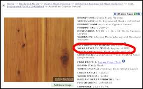 brilliant vinyl flooring thickness chart all about wear layers