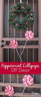 diy peppermint lollipops decor