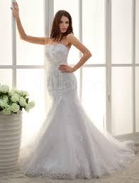 mermaid trumpet wedding dress white sweetheart applique lace mermaid trumpet wedding dress