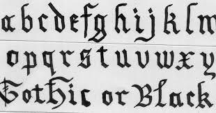 imagenes goticas letras caligrafía mónica arcila r básica artística creativa calligraphy