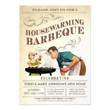 housewarming party invitations housewarming party invitations bbq vintage zazzle