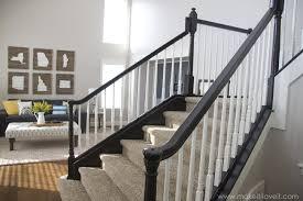How To Install A Banister How To Stain Paint An Oak Banister The Shortcut Method No