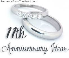 11th anniversary gift ideas 11th anniversary ideas romancefromtheheart