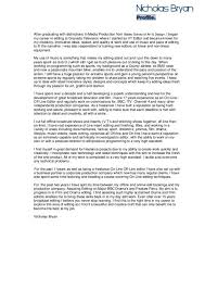 Dj Resume Resume Cv Cover Letter by Radio Editor Cover Letter