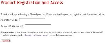 sles of thank you notes novell registering suse linux enterprise server 8 and 9