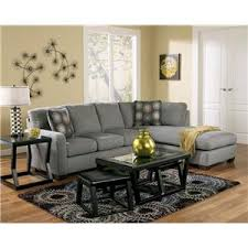 Contemporary Sectional Sofa With Chaise Signature Design By Ashley Zella Charcoal Contemporary Sectional