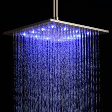 rain shower head system grandiose multi color led rain shower head with chrome square