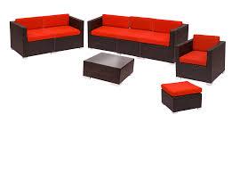 Wicker Sofa Cushions Synthetic Wicker Sofa Sets Bfm Aruba 8 Piece Synthetic Wicker