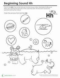 brilliant ideas of letter h worksheets for preschool on job